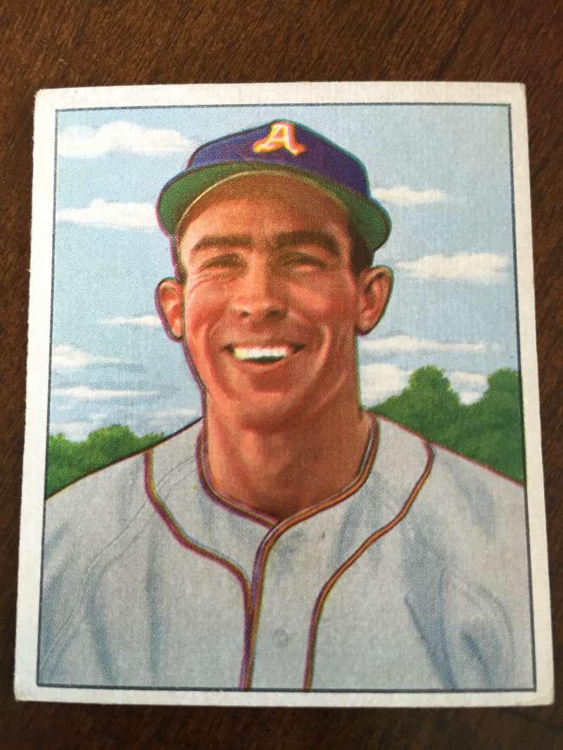 1950 Bowman #158 Paul Lehner Philadelphia Athletics VG/EX A189