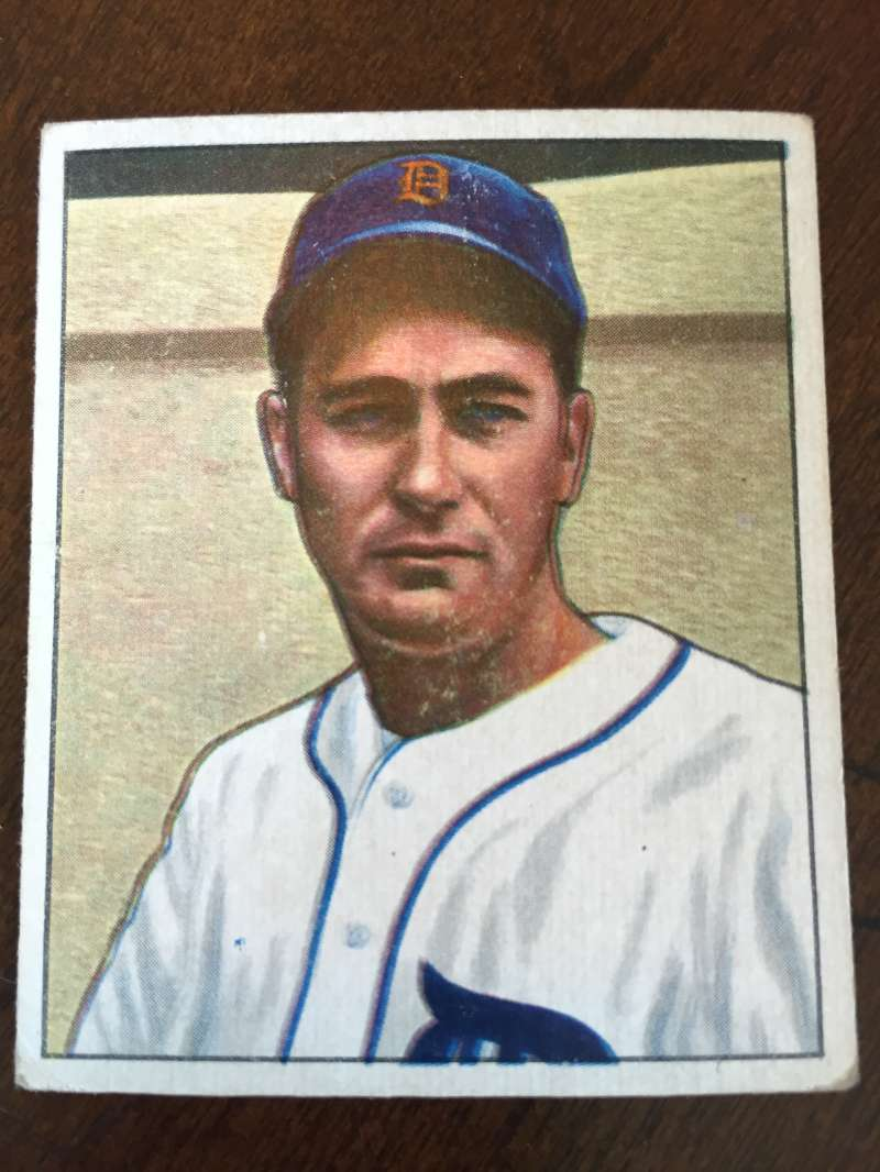 1950 Bowman #133 Don Kolloway Detroit Tigers VG A145