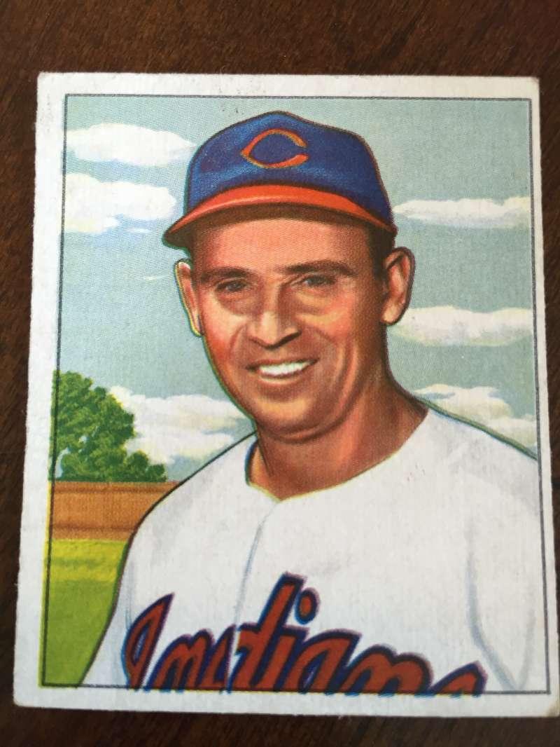 1950 Bowman #129 Joe Flash Gordon Cleveland Indians EX A141