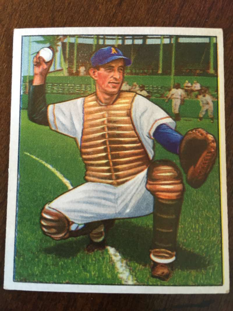 1950 Bowman #157 Mike Guerra Philadelphia Athletics Ex/ExMt A187