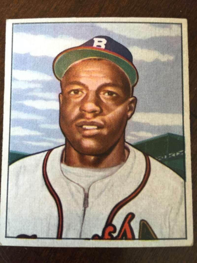 1950 Bowman #248 Sam Jethroe Boston Braves VG/EX A301
