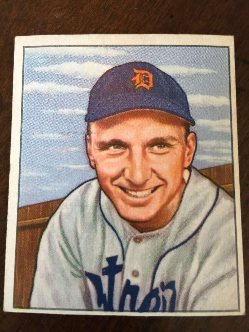 1950 Bowman #242 Dick Kryhoski Detroit Tigers EX A297